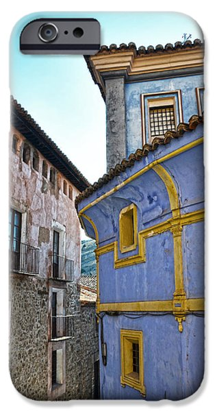 Antique Ironwork iPhone Cases - The blue house iPhone Case by RicardMN Photography