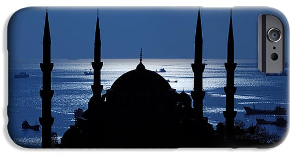 Istanbul iPhone Cases - The Blue Mosque iPhone Case by Ayhan Altun