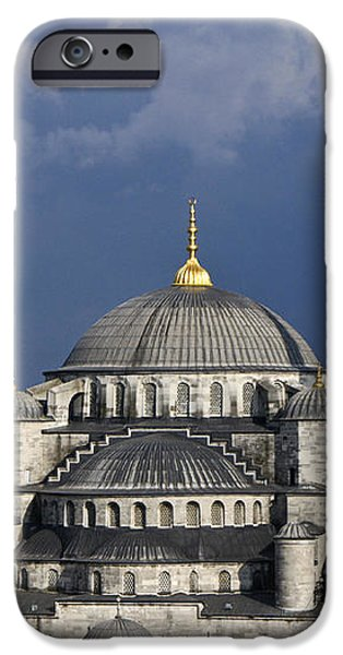 The Blue Mosque in Istanbul iPhone Case by Michele Burgess