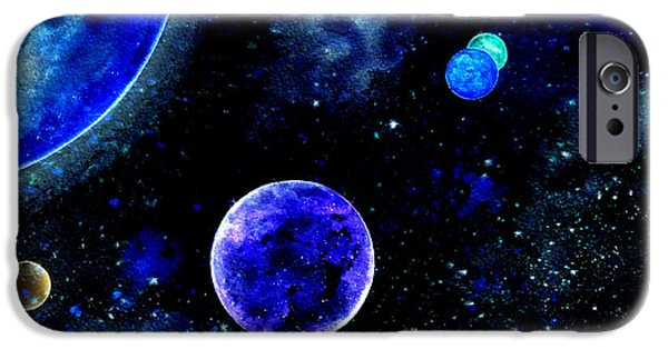 Intergalactic Space iPhone Cases - The Blue Planet iPhone Case by Bill Holkham