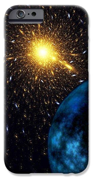 The Blue Planet iPhone Case by Klara Acel