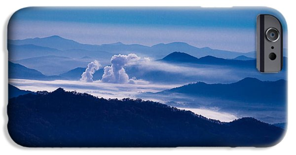 Love Asheville iPhone Cases - The Blue Ridge Mountains iPhone Case by Serge Skiba