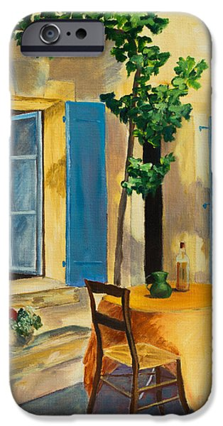 Pottery iPhone Cases - The Blue Shutters iPhone Case by Elise Palmigiani