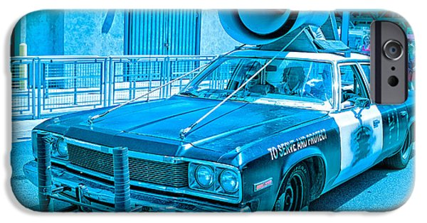 Police Car iPhone Cases - The Blues Brothers iPhone Case by Edward Fielding