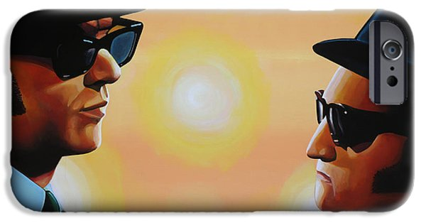 Soul Singer iPhone Cases - The Blues Brothers iPhone Case by Paul  Meijering