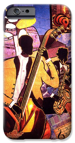 American ist Mixed Media iPhone Cases - The Blues People iPhone Case by Everett Spruill