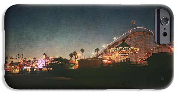 Santa Cruz iPhone Cases - The Boardwalk iPhone Case by Laurie Search