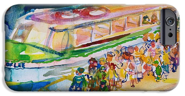 Pleasure iPhone Cases - The Boat Trip, 1989 Wc On Paper iPhone Case by Brenda Brin Booker