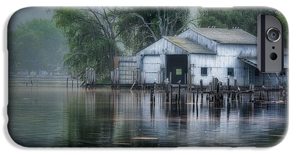 Watkins Glen iPhone Cases - The Boathouse iPhone Case by Bill  Wakeley