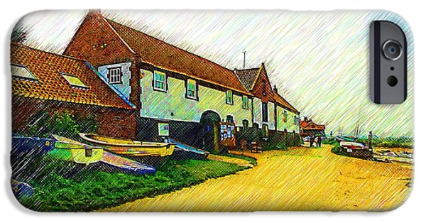 Tidal Creek iPhone Cases - The Boathouse Burnham Overy Staithe iPhone Case by Chris Thaxter