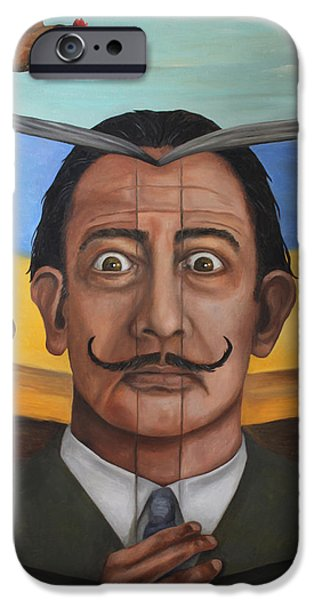 Dali iPhone Cases - The Book Of Surrealism iPhone Case by Leah Saulnier The Painting Maniac