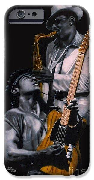Bruce Springsteen iPhone Cases - Bruce and Clarence iPhone Case by Thomas J Herring