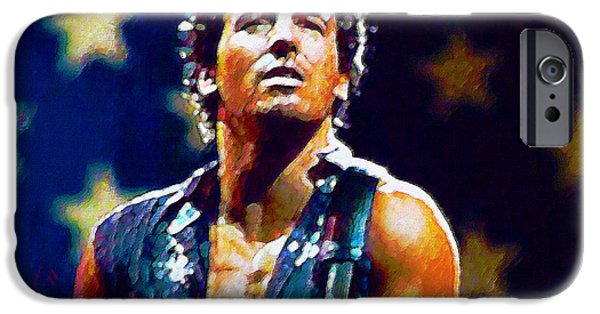 Springsteen iPhone Cases - The Boss iPhone Case by John Travisano