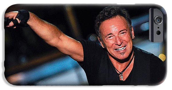 Bruce Springsteen iPhone Cases - The Boss iPhone Case by Rafa Rivas