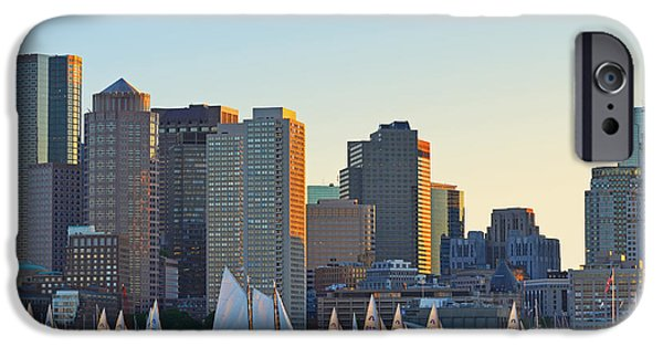 Oxford. Oxford Ma. Massachusetts iPhone Cases - The Boston Skyline from East Boston iPhone Case by Toby McGuire