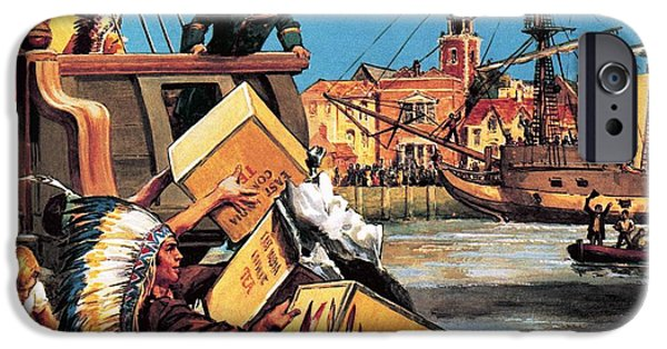 President iPhone Cases - The Boston Tea Party iPhone Case by English School