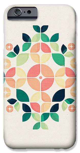 Retro Abstract iPhone Cases - The Bouquet iPhone Case by VessDSign