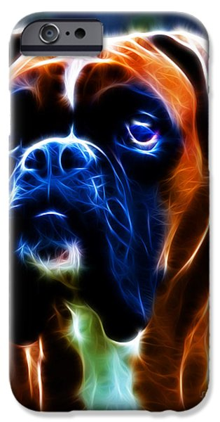 The Boxer - Electric iPhone Case by Wingsdomain Art and Photography