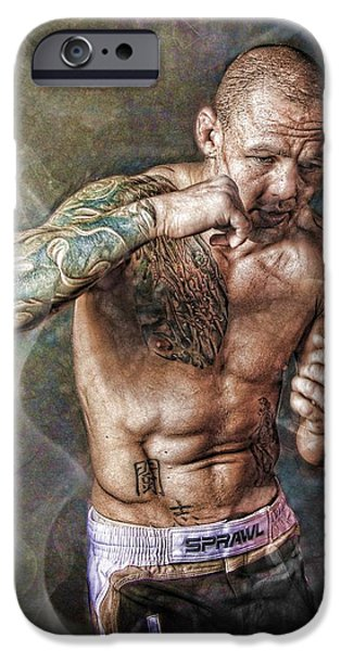 Boxer Digital Art iPhone Cases - The Boxer iPhone Case by John Lynch
