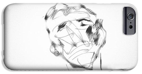 Boxer Digital Art iPhone Cases - The Boxer iPhone Case by Ken Anderson Jr