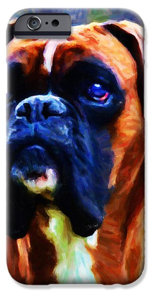 The Boxer - Painterly iPhone Case by Wingsdomain Art and Photography
