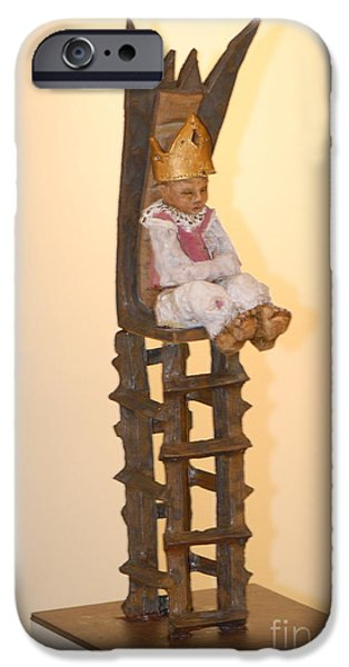 Chair Sculptures iPhone Cases - The Boy King iPhone Case by Katie Thomas