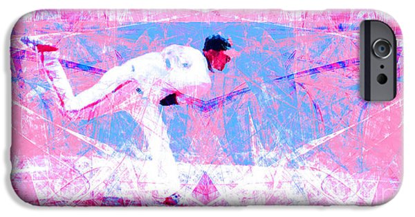 New York Baseball Parks iPhone Cases - The Boys of Summer 5D28161 The Pitcher v2 Long iPhone Case by Wingsdomain Art and Photography