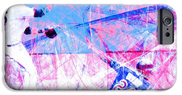 Shortstop iPhone Cases - The Boys of Summer 5D28208 The Double Play Square v2 iPhone Case by Wingsdomain Art and Photography
