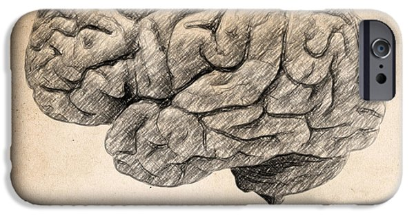 Beautiful Drawings iPhone Cases - The brain is wider than the sky iPhone Case by Taylan Soyturk