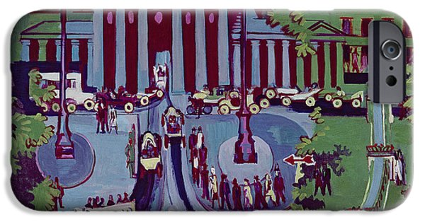 Berlin Paintings iPhone Cases - The Brandenburg Gate Berlin iPhone Case by Ernst Ludwig Kirchner