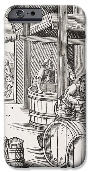 Pouring iPhone Cases - The Brewer, After A 16th Century Illustration Drawn And Engraved By Jost Amman 1539-91 From Le iPhone Case by French School