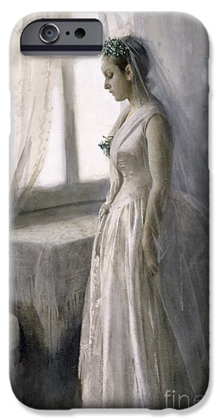 Silk iPhone Cases - The Bride iPhone Case by Anders Leonard Zorn