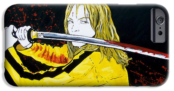 Kill Bill iPhone Cases - The Bride At Work iPhone Case by Jack Irons