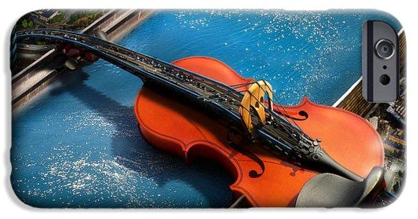 Art Of Soul Music iPhone Cases - The Bridge iPhone Case by Alessandro Della Pietra