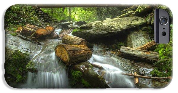 Gatlinburg iPhone Cases - The Bridge at Alum Cave iPhone Case by Debra and Dave Vanderlaan