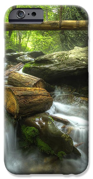 The Bridge at Alum Cave iPhone Case by Debra and Dave Vanderlaan