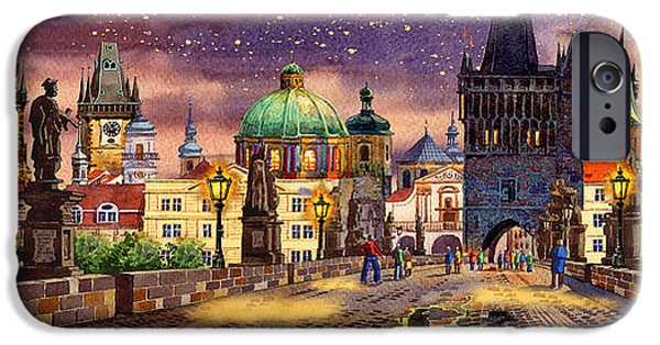 Charles Bridge Digital Art iPhone Cases - The bridge of magic iPhone Case by Dmitry Koptevskiy
