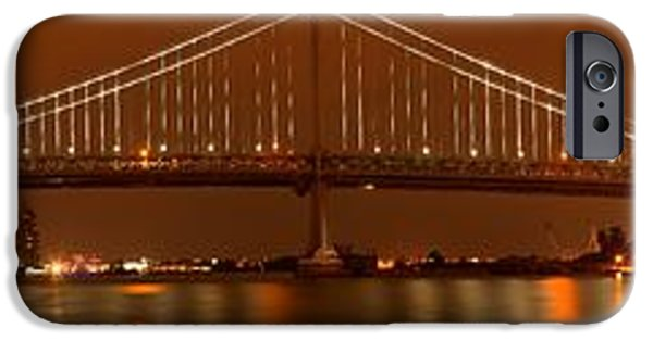 Franklin iPhone Cases - The Bridge To Camden iPhone Case by Adam Jewell