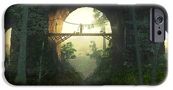 Homeless iPhone Cases - The Bridge Under the Bridge iPhone Case by Cynthia Decker