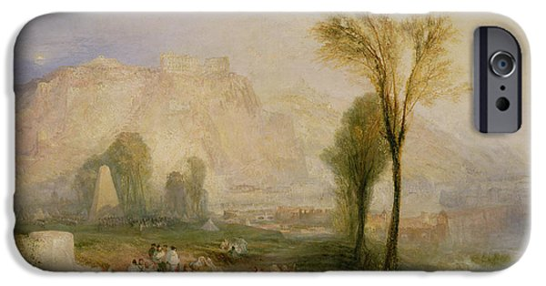 Germany iPhone Cases - The Bright Stone Of Honour Ehrenbreitstein And The Tomb Of Marceau, From Byrons Childe Harold, 1835 iPhone Case by Joseph Mallord William Turner