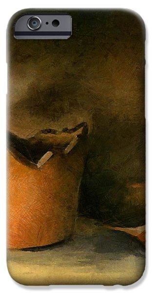 The Broken Terracotta Pot iPhone Case by Michelle Calkins