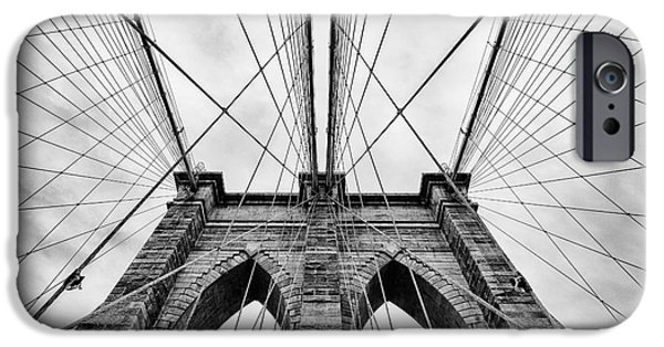 U.s.a. iPhone Cases - The Brooklyn Bridge iPhone Case by John Farnan