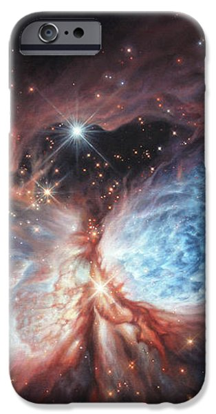 The Brush Strokes of Star Birth iPhone Case by Lucy West