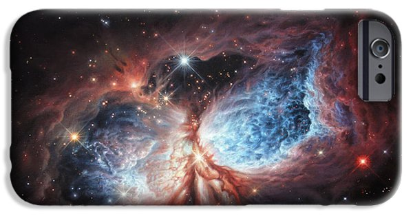 The Universe Paintings iPhone Cases - The Brush Strokes of Star Birth iPhone Case by Lucy West