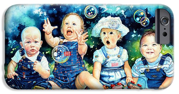 Recently Sold -  - Child iPhone Cases - The Bubble Gang iPhone Case by Hanne Lore Koehler