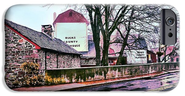Bucks County iPhone Cases - The Bucks County Playhouse iPhone Case by Bill Cannon