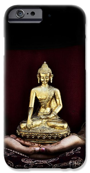Buddhism iPhone Cases - The Buddha Within  iPhone Case by Tim Gainey