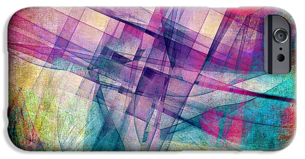 Abstract Forms Mixed Media iPhone Cases - The Building Blocks iPhone Case by Angelina Vick