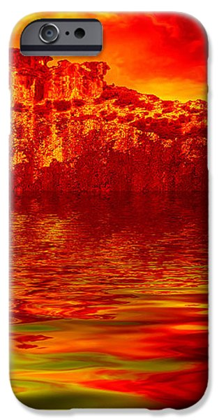 The Burning Zone iPhone Case by Wendy J St Christopher