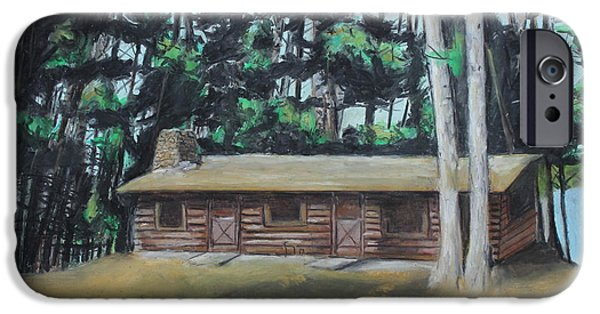 Cabin Window Pastels iPhone Cases - The Cabin iPhone Case by Jeanne Fischer